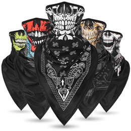 Cycling Skeleton NZ - 2019 skeleton Face Mask Wholesale Outdoor Seamless Versatile Magic Skull Scarf Face Mask Cycling Riding Masks Warm Neckerchief Halloween