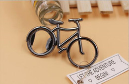 Discount bicycle opener - Vintage Metal Bicycle Bottle Opener Wine Beer Bottle Opener For Cycling Lover Wedding Favor Party Gift Present two color
