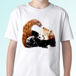 dd3195e76b45 Red Panda white t shirt animal tee top design gift - mens womens kids baby  sizes Men Women Unisex Fashion tshirt Free Shipping