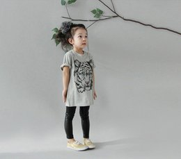 $enCountryForm.capitalKeyWord Australia - Fashion Baby T-Shirt Boy Girl Tiger Head Design tops Short Sleeve T-Shirt children's clothing for girls