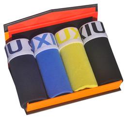 $enCountryForm.capitalKeyWord UK - DEWVKV 2019 4pcs\lot Male Underwear Elastic Wide Belt Men Underpant Solid Cotton Panties Model Boxer Sexy Plus Size Boxer