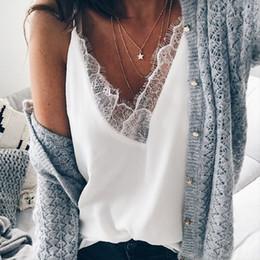 $enCountryForm.capitalKeyWord Australia - Blouse Femme Fashion Womens Tops And Blouses Womens Fashion Chiffon Lace Sexy Vest Fashion Sleeveless Blouse For