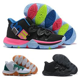 06088801bd20 2019 Kyrie Taco Black Magic Sky star Mens Basketball Shoes Chaussures 5s 5  Men Rainbow Black White Sports Sneakers Size US 7-12