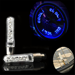 Bicycle valve core online shopping - Sales ROBESBON Bike Bicycle Cycling Copious Type Wheel Tire Valve Cap Spoke Core Gas Nozzle Neon LED Warning Safety Lamp Lights