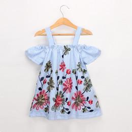 EmbroidEry dEsigns flowEr girl online shopping - Girl Kids Clothing Dress Flower Embroidery Design Suspender Dress girl Summer Dress