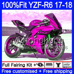 Pink yamaha r6 online shopping - Injection Glossy pink hot Kit For YAMAHA YZF600 YZF R6 YZF YZF R6 HM YZF R YZF YZFR6 Fairing Body Gifts