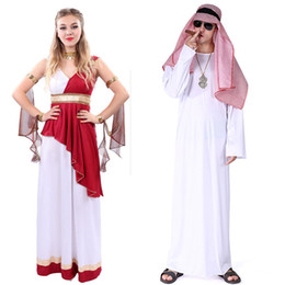 dubai costume sets 2019 - Party Cosplay Stage Costume Halloween Theme Cos Costume Adult Middle Arab Arabian Robe Clothes Aladdin Dubai Girls Cloth