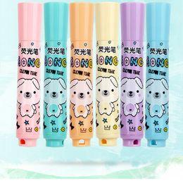 $enCountryForm.capitalKeyWord Australia - 6pcs set Cute Bear Marker Color Pens Highlighter Pens Stationery Diary Album Photo Decoration Kids Toy School Supplies