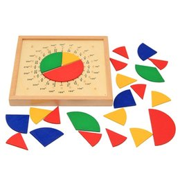 Kids Blocks Wholesale NZ - Mathematics Montessori Score Board Profession Teaching Aid Wooden Early Education Building Blocks Round Kids Popular Factory Direct 22oya I1