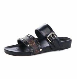 China High-Quality Slippers Sandals Slides Brand Real Leather Designer Shoes Huaraches Flip Flops Loafers Scuffs For Woman with box suppliers