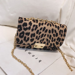 Hand Bags Leopard Prints Australia - 2018 Chain Bags Faux Leather Suede Cross Body Bags For Women Velvet Flap Envelope Hand Bag Leopard Print Shoulder Handbags