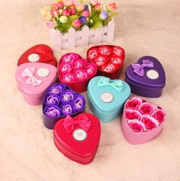 $enCountryForm.capitalKeyWord Australia - Rose Soap For Bath Rose Flower Soap With Gift Box For Birthday Wedding Valentine Day Gift 6 pcs set