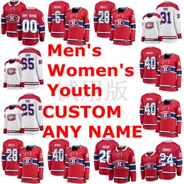 weber jersey NZ - Montreal Canadiens Jerseys Andrew Shaw Shea Weber Mike Reilly Ryan Poehling Antti Niemi Red White Hockey Jerseys Custom Stitched
