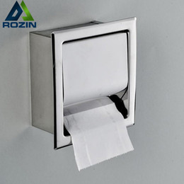 Chrome Metal Rack Australia - Free Shipping Concealed Install Toilet Paper Holder Inside Wall Mounted Bathroom Roll Tissue Paper Rack