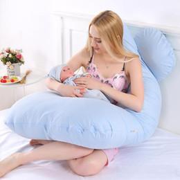 130 * 70 cm Mujeres Embarazadas Madre Almohadas Cuerpo Durmiendo Almohada 100% Algodón Funda de almohada En forma de U Lecho del embarazo Cómodo Cojín en venta