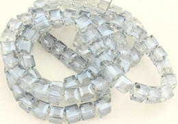 $enCountryForm.capitalKeyWord NZ - Wholesale 100PCS transparent gray CUBE SQUARE Crystal AB GLASS Loose Spacer BEADS DIY JEWELRY MAKING 4MM 6MM 8MM 10MM