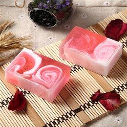 $enCountryForm.capitalKeyWord Australia - Fashion Hot Rose Rendering Whitening Moisturizing Soap Deep Gentle Cleansing Foaming Cleansing Bath Handmade Soap DHL