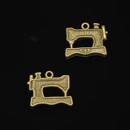 Charm making maChines online shopping - 154pcs Charms vintage singer treadle sewing machine Antique Bronze Plated Pendants Fit Jewelry Making Findings Accessories mm