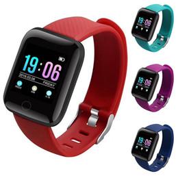 $enCountryForm.capitalKeyWord NZ - 116 PLUS Smart Bracelet Color Screen Heart Rate Blood Pressure Monitoring Bluetooth SmartWatch Track Movement IP67 Waterproof Smart Watch