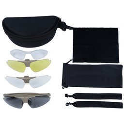 Wholesale Outdoor Anti fog Cycling Glasses Eyewear Goggle Eye Protector Rubber Nose Padding Interchangeable Lenses Shooting Glass Kit