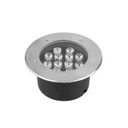 12W AC 85-265V LED Underground Lamp Light RGB Colorful IP67 Waterproof Projector Light for Garden on Sale