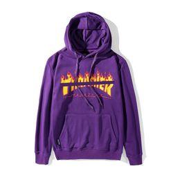 $enCountryForm.capitalKeyWord UK - New mens designer hoodie USA skateboard brand Thrashers hoodies Flame print couple sweatshirt classic leisure women pullover luxury sweater