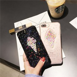Phone Types Australia - Cool Star IphoneX Phone Case Fashion Color Ice Cream Type Trend Epoxy Flash TPU Anti fall Phone Cover For iphone67plus Samsung Note9 Back