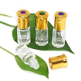 Wholesale 1000pcs ml Star Anise Glass Roll On Bottle With Plastic Roller Clear Empty Parfum Bottles For Essential Oil