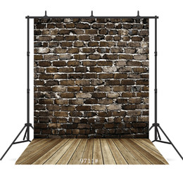 Chinese  vintage dark brick wall Vinyl photography background for child baby shower new born portrait backdrop photocall photo studio manufacturers