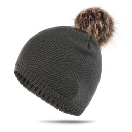 $enCountryForm.capitalKeyWord Australia - New Pattern Autumn And Winter Men And Women Hats Solid Color Keep Warm Hair Bulb Knitting Wool Pullover Hats Earmuffs Hat Goods In Stock