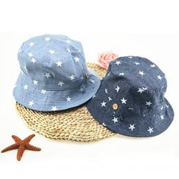 4ee75f31b30 Soft Summer Baby Sun Infant Boys Girls Bucket Hat Denim Cotton Toddler Kids  Tractor Cap C19041001