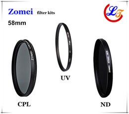 52mm Camera Filters Australia - Professional High Qaulity Zomei 52mm 55mm 58mm UV CPL ND4 Filter Kit Polarizer Glass Filtro Protector Lens for Canon Sony Camera Lens