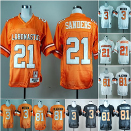 oklahoma state jersey NZ - NCAA Oklahoma State Cowboys #21 Barry Sanders 3 Brandon Weeden 81Justin Blackmon 2019 College Football Jerseys Stitched White Orange