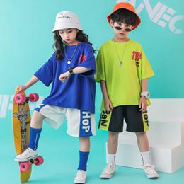 $enCountryForm.capitalKeyWord NZ - Children Hip Hop Clothing Oversized Loose T Shirt Tops Short for Girls Boys Dance Costumes Wear Ballroom Dancing Clothes Outfits