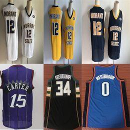 c5639e0bd NCAA 12 Ja Morant Jerseys Jimmy 23 Butler Ben 25 Simmons joel 21 Embiid 11  Irving Giannis 34 Antetokounmpo College Basketball Jersey