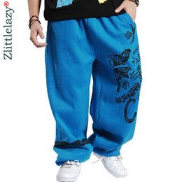 Air Pants Australia - 2019 Fashion Mens Joggers Printed Designer Male Baggy Hip Hop Jogger Pants Open Air Sweatpants Men Trousers Pantalon Homme B85 Y190509