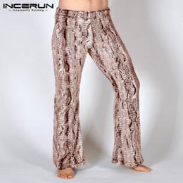 Discount khaki yoga pants - INCERUN Fashion Leopard Print Pants Men Elastic Waist Joggers Loose Casual Trousers Men Yoga-pants Bodybuilding Pantalon