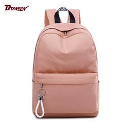 $enCountryForm.capitalKeyWord NZ - College Wind Schoolbag Backpack Female Teenage Girls Student School Bags Nylon Waterproof Bagpack Big Capacity Solid Bag Pack J190427
