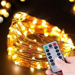 $enCountryForm.capitalKeyWord Australia - 5M 10M 33ft 100LED 8 Modes Timer Remote control Battery and Copper Wire Lamp Wtring Waterproof Sliver Wire Fairy LED Light Christmas Holiday