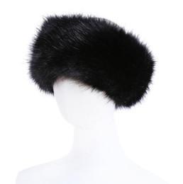 10 colori Womens Faux Fur Fascia di lusso regolabile inverno caldo nero bianco natura ragazze pelliccia Earwarmer paraorecchie cappelli per le donne