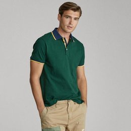 embroidered polo t shirts Canada - High Quality Men Design Summer Polo Shirt Casual Solid Color Men Clothing Famous Style Horse Embroidered Polo T-shirts