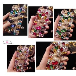 united phones Australia - Wholesale luxury water drill popular logo Europe and the United States wind mobile phone case full of drilling shell applicable pingguo mobi