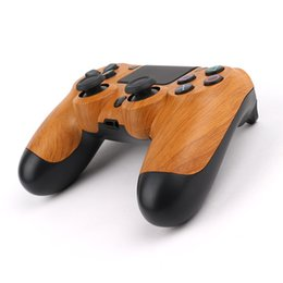 $enCountryForm.capitalKeyWord Australia - NEW Color Wood Grain Wireless Controller TOP quality Gamepad for PS4 Joystick with Retail package LOGO Game Controller DHL