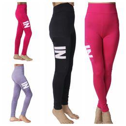 9ea35951a9f137 Rosa graue Hosen Sport Leggings Yoga Hosen Laufen Sport Strumpfhosen Frauen  Fitness Kleidung Slim Fit Gym Leggings Spandex Hose für Frauen