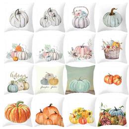 Red white sofa cushions online shopping - Fall Halloween Pumpkin Pillow Case Waist Throw Cushion Cover Sofa Home Decor