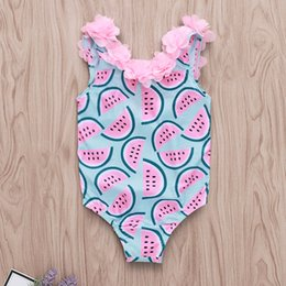 0dc80852e2 Girls Swim Briefs Australia - New pink flower Children's girl Swimming Suit  Girls' Sunflower Printed