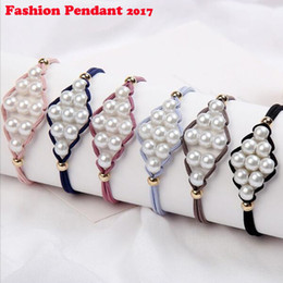 Pearl Bead Elastic Australia - Pearls Beads Hair Accessories Cute Elastic Hair Bands For women Hair Rope Scrunchies Ponytail Holders Rubber Bands New