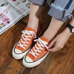 $enCountryForm.capitalKeyWord Australia - Newest Spring and Summer Women Canvas Shoes 1970s Orange Retro Unisex Casual Shoes South Korea Ulzzang Street QSD252