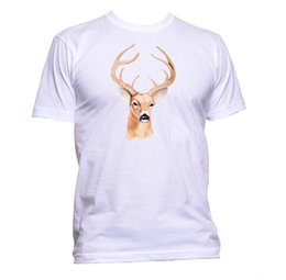 $enCountryForm.capitalKeyWord Australia - Deer Painting Unisex T-Shirt Mens Womens Fashion Comedy Cool Funny Hipster Gift Size Discout Hot New Tshirt Jersey Print T-shirt