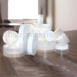 free empty 3g pots UK - Free Shipping 100pcs 3g Small Empty Cosmetic Refillable Bottles Plastic Eyeshadow Makeup Face Cream Jar Pot Container Bottle